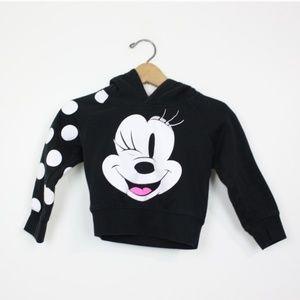 Disney Black Minnie Mouse Bow Hoodie Sz 3T